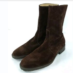 J.Crew Italy Suede Brown Boots 9 1/2